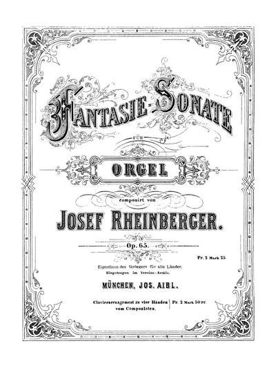 Fantasie-Sonate für Orgel. Op. 65