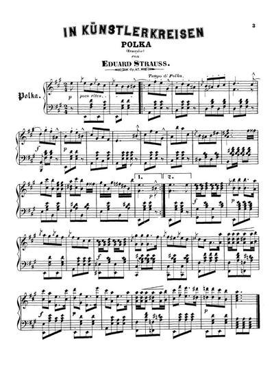 In Künstlerkreisen Polka (française). Op. 47