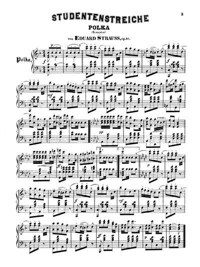 Studentenstreiche Polka (française). Op. 48
