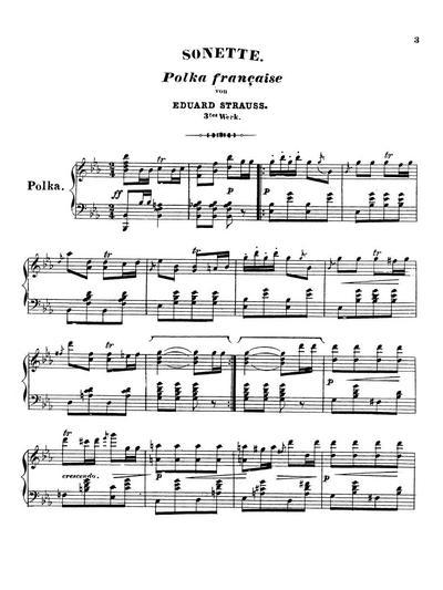Sonette Polka française. 3tes Werk