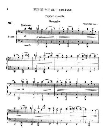 Bunte Schmetterlinge für das Pianoforte zu 4 Händen