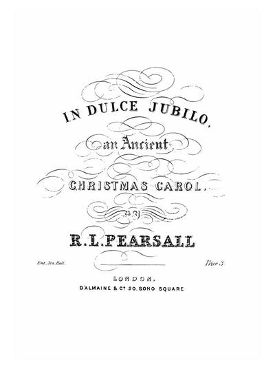 In dulce jubilo an ancient Christmas carol