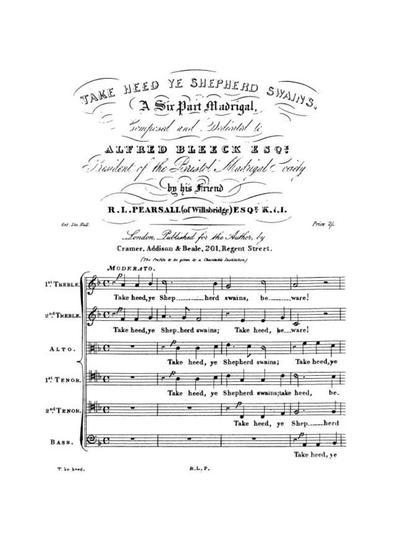 Take heed ye shepherd swains a 6 part madrigal