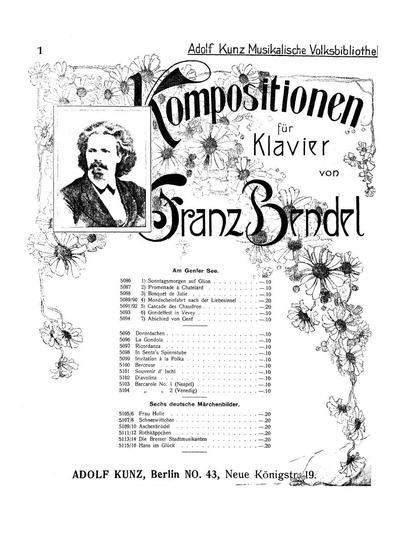 Barcarole (Neapel). Op. 5, № 1 für Klavier