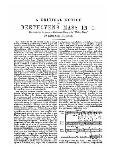 Beethoven's mass in C-dur vocal score
