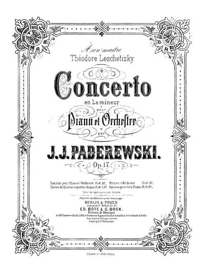 Concerto en la-mineur pour piano et orchestre. Op. 17 partition pour deux pianos