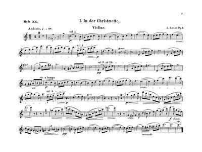 5 Charakterstücke für Violine und Orgel. Op. 3