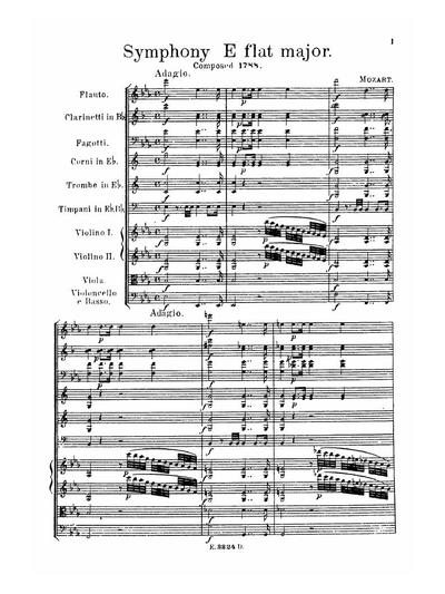 Symphony E flat major