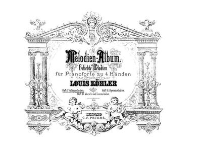 Melodien-Album Beliebte Melodien für Pianoforte zu 4 Händen - H. 1 :: Volksmelodien