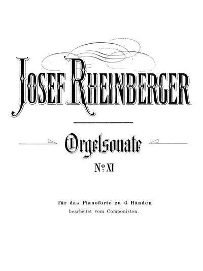 Sonate № 11 in d-moll für Orgel. Op. 148