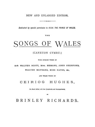 The songs of Wales (Caneuon Cymru)