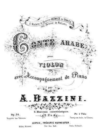 Conte arabe pour violon avec accompagnement de piano. Op. 34, № 4