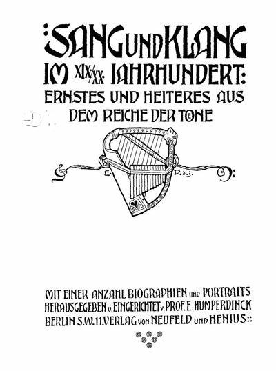 Sang und Klang im XIX-XX Jahrhundert ernstes und heiteres aus dem Reiche der Tone : mit einer Anzahl Biographien und Portraits - 6