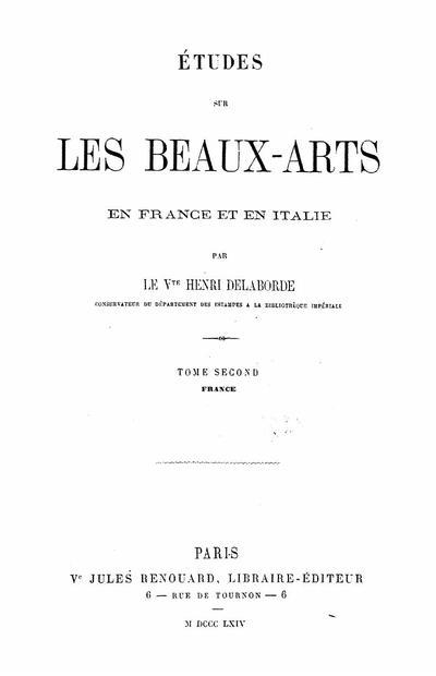 Etudes sur les beaux-arts en France et en Italie - Tome 2: France