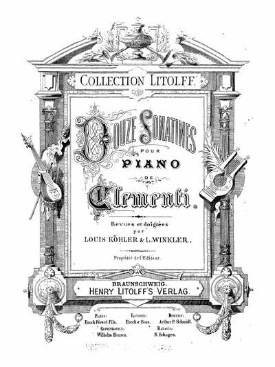 Douze sonatines pour piano : Op. 36-38