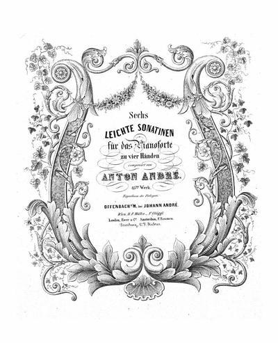 Sechs leichte Sonatinen fur das Pianoforte zu vier Handen : 45tes Werk