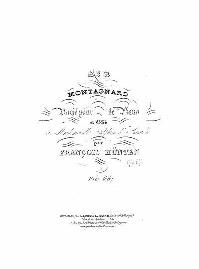 Air montagnard varié pour le piano : Op. 67