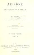 Ariadne : The story of a dream. Vol. 1.