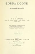 Lorna Doone : A romance of Exmoor. Volume 2.