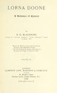 Lorna Doone : A romance of Exmoor. Volume 3.
