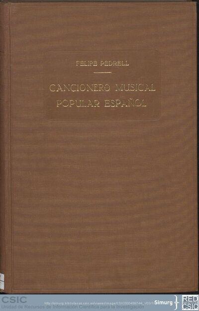 Cancionero musical popular español; Cancionero musical popular español (Vol. 03)