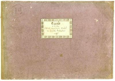 Credo.; 3V (TTB), coro 3V (TTB), orch, bc.; Mib.