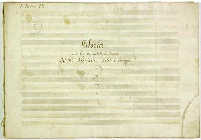 Gloria.; 4V (TTBB), coro 3V (TTB), orch, bc.