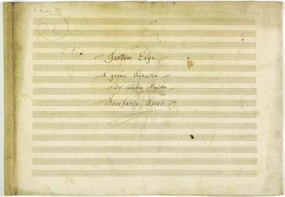 Tantum ergo.; Inno.; B, coro 3V (STB), orch.; Sol.