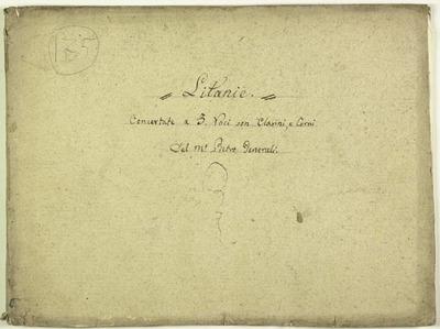 Kyrie eleison.; Litanie.; 3V (TTB), coro 3V (TTB), fiati, timp, bc.; Sol.