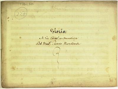 Gloria.; 3V (TTB), coro 3V (TTB), fiati, bc.; Sib.