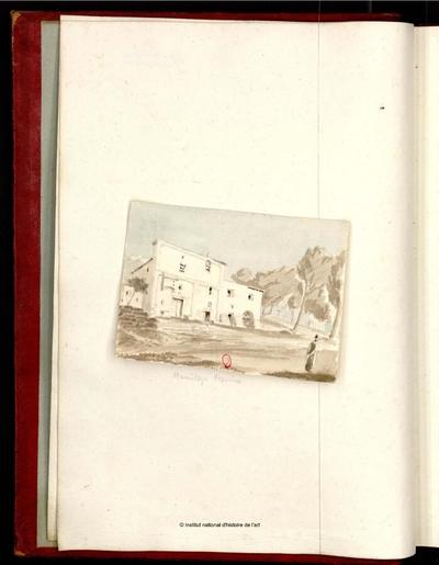 Pompei,...recueil de vues, plans, détails d'architecture [...]. Tome 1; Pompei,...recueil de vues, plans, détails d'architecture, relevés de fresques executés par un architecte ou dessinateur anglais de 1801 à 1831 : [Tome 1]