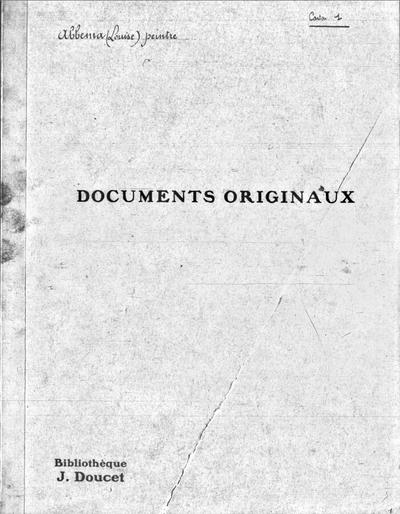 Autographes, Carton 1 : Peintres Abb-Alm