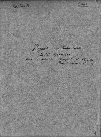 Autographes, Carton 5 : Peintres Bog-Bou