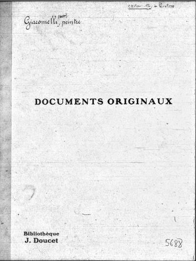 Autographes, Carton 15 : Peintres Gia-Gru