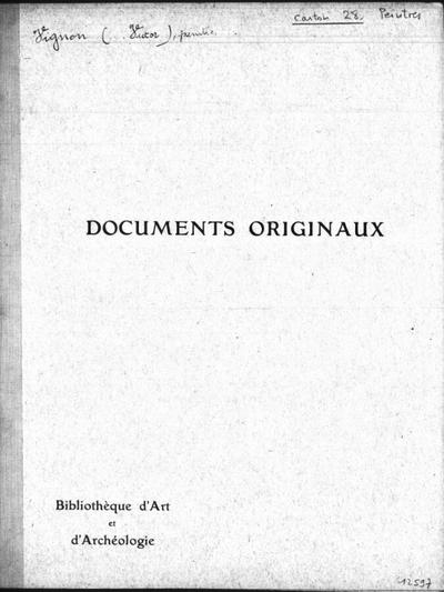 Autographes, Carton 28bis : Peintres Vig-Zwi