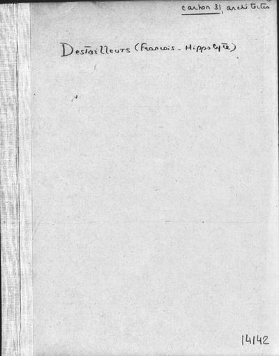 Autographes, Carton 31bis : Architectes Des-Hor
