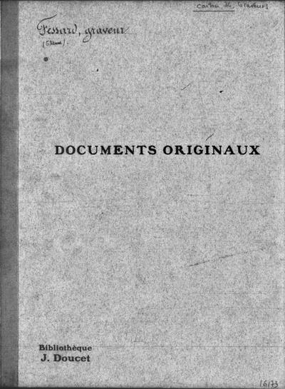 Autographes, Carton 34 : Graveurs Fes-Lun