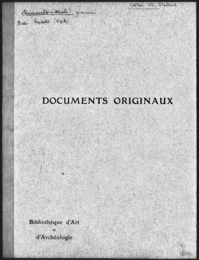 Autographes, Carton 35 : Graveurs Mal-War