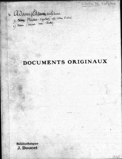 Autographes, Carton 36 : Sculpteurs Ada-Bri