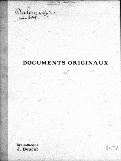 Autographes, Carton 38 : Sculpteurs Dal-Fri