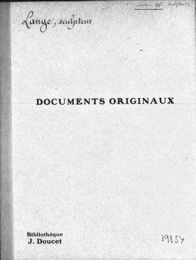 Autographes, Carton 40 : Sculpteurs Lam-Mul