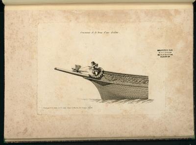 [Ornements pour des proues de navires]; [Ornements pour des proues de navires, gravé par Y. Le Gouaz et J.J. Coiny d'après les dessins de P. Ozanne]