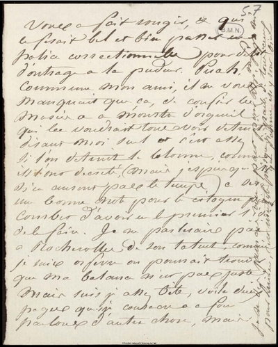 Lettre (incomplète) de Jean-Louis-Ernest Meissonier, [s.d.]