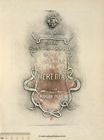 Trois gypsographies d'après José Maria de Heredia