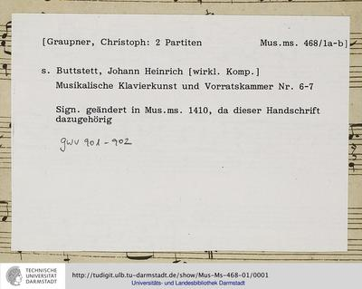 Musikalische Klavierkunst und Vorratskammer, Nr. 6 - 7