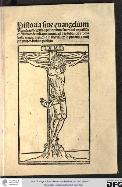 [Evangelium] Historia sive evangelium Nycodemi