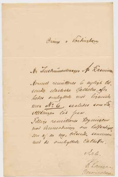 [Letter] 1876-1883, Oringe