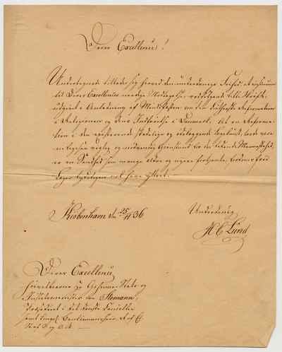 [Letter] 1836-11-25, København