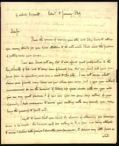 [Letter] 1829-01-05, Edinburgh