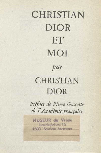 Christian Dior et moi :